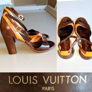 LOUIS VUITTON PARIS LEATHER HEEL